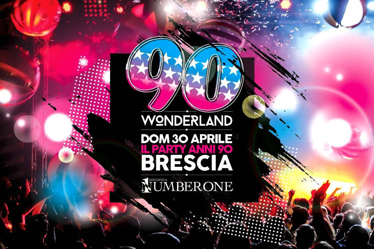 90 Wonderland Party anni '90