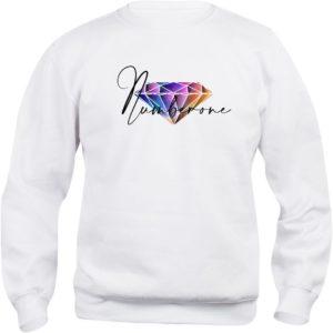 felpa-girocollo-uomo-donna-diamante-colorato-bianca