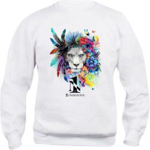 felpa-girocollo-uomo-donna-leone-bianca