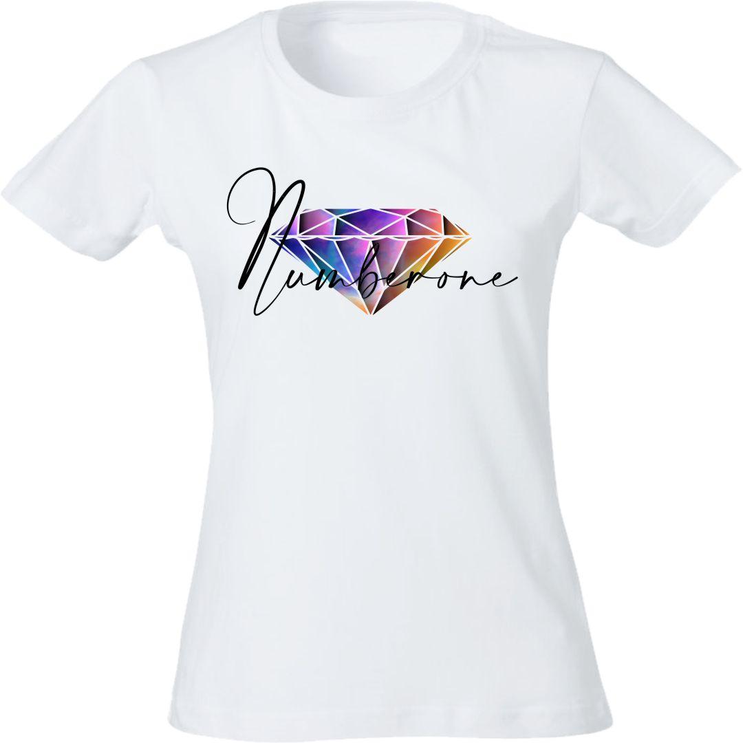 t-shirt-donna-diamante-colorato-bianca