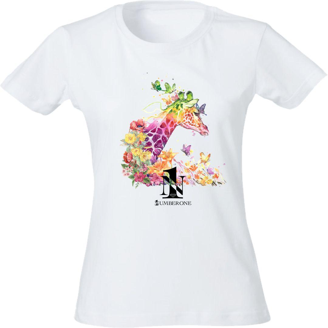 t-shirt-donna-giraffa-bianca