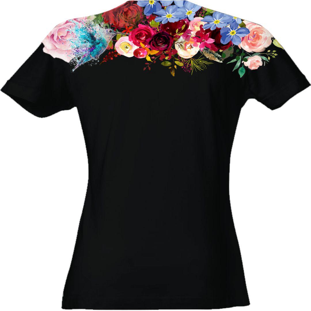 t-shirt-donna-giraffa-retro-nera