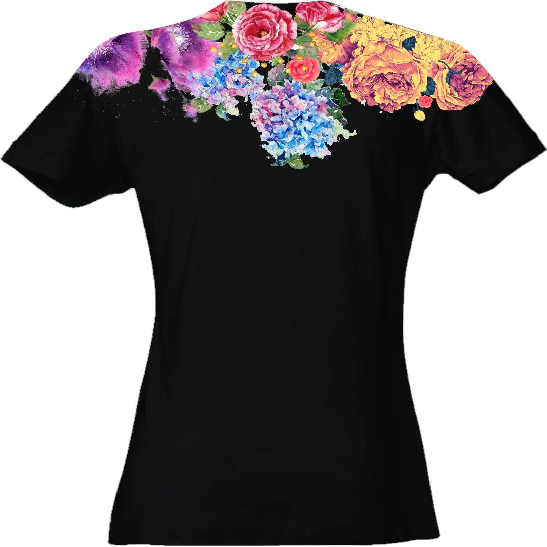 t-shirt-donna-tigre-retro-nera