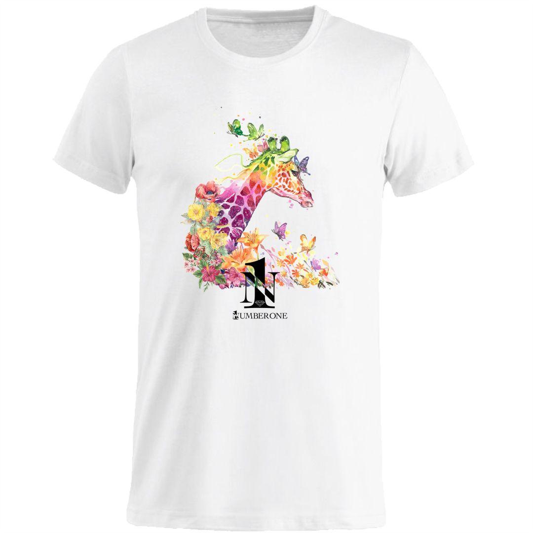 t-shirt-girocollo-manica-corta-uomo-giraffa-bianca