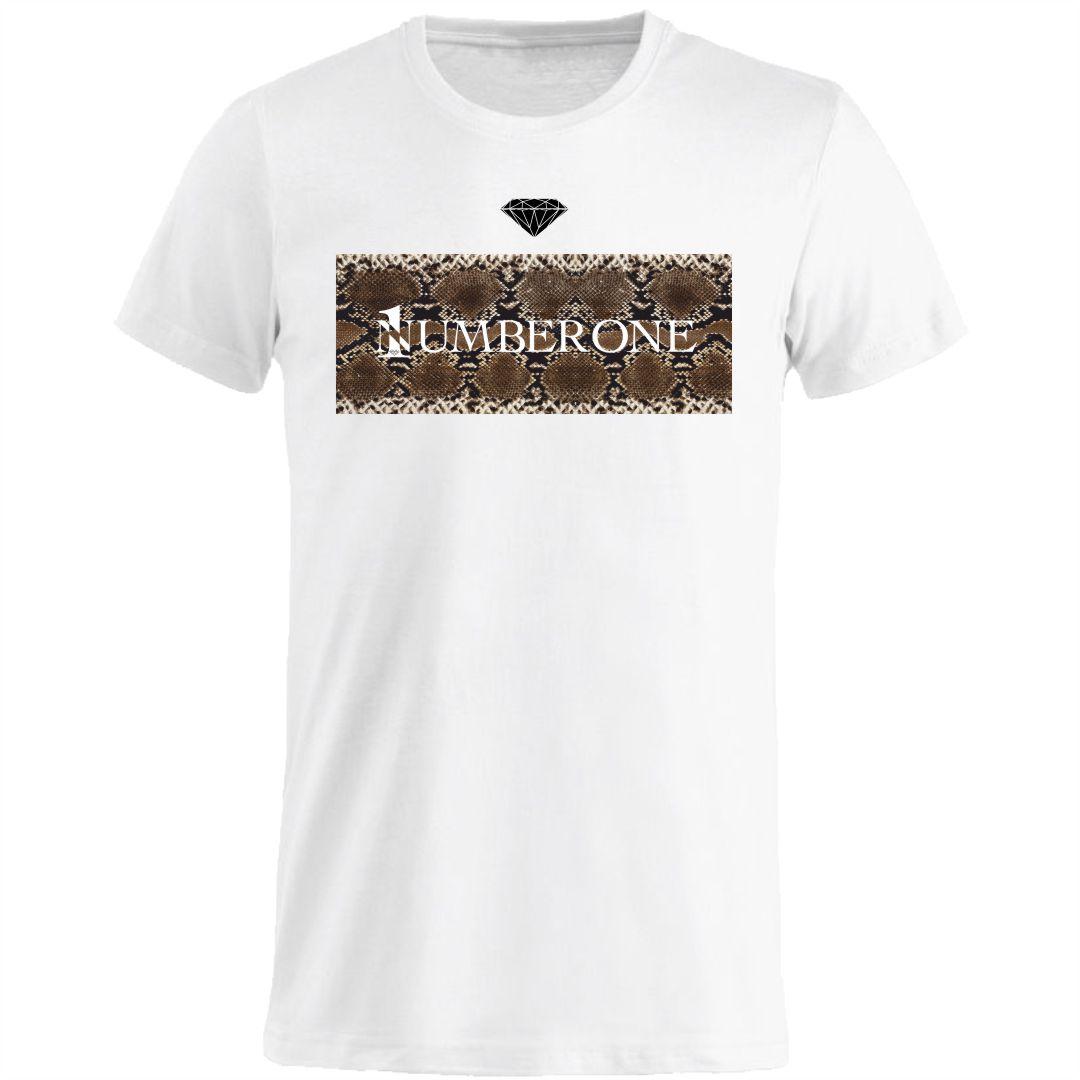 t-shirt-girocollo-manica-corta-uomo-pitone-bianca