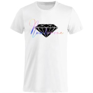 t-shirt-girocollo-manica-corta-uomo-scritta-diamante-bianca