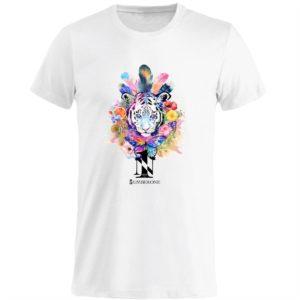 t-shirt-girocollo-manica-corta-uomo-tigre-bianca